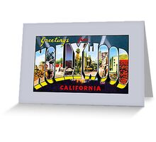 Vintage Greetings from Hollywood California Greeting Card