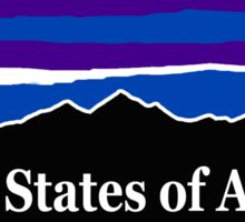 United States of America Midnight Mountains Sticker
