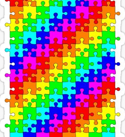 Jigsaw rainbow Sticker