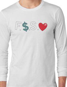 Official Fuck Money Spread Love - J.cole Long Sleeve T-Shirt