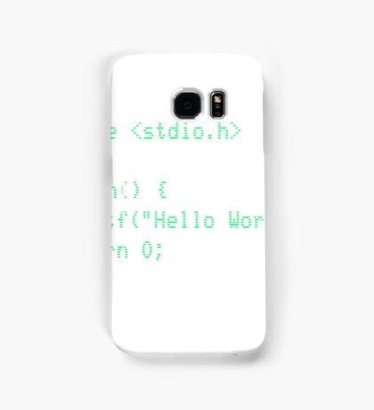 Hello World Samsung Galaxy Case/Skin
