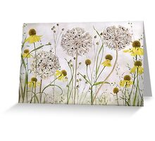 Alliums and Heleniums Greeting Card
