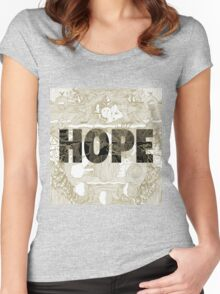 """Hope"" by Manchester Orchestra Women's Fitted Scoop T-Shirt"