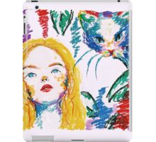 alice and the cat iPad Case/Skin