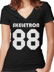 Skeletron 88 Women's Fitted V-Neck T-Shirt