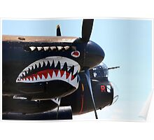 Avro Lancaster Bomber Decoration, Replica Merlin Engines Poster