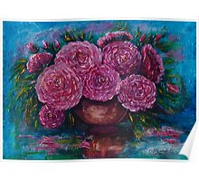 Just for You (Palette knife) by Lena Owens/OLena Art Poster