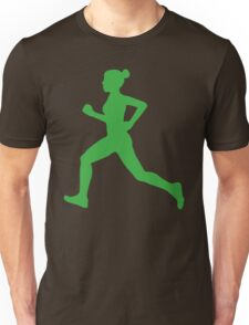 Running Girl Camo Pattern Unisex T-Shirt