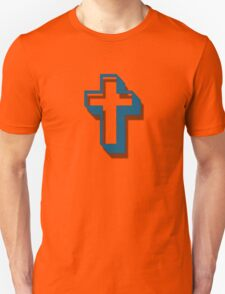 """Easter Cross"" typography T-Shirt"