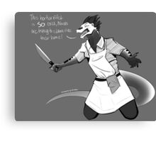 Chef Vulvan Canvas Print