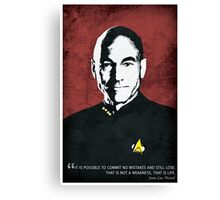 Star Trek TNG, Jean Luc Picard - Portrait Poster Canvas Print