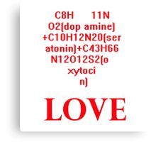 The Chemical Formula of Love Canvas Print