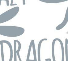 Crazy Dragonfly Lady Sticker