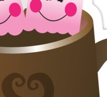 Cute Hot Chocolate with marshmallows Sticker
