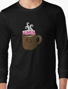 Cute Hot Chocolate with marshmallows Long Sleeve T-Shirt