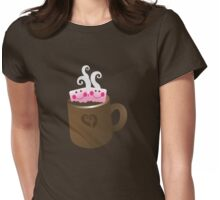 Cute Hot Chocolate with marshmallows Womens Fitted T-Shirt