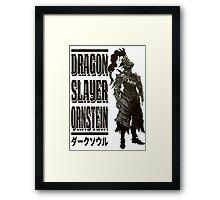 Dragon Slayer Ornstein Framed Print