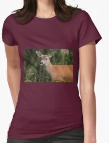 Blacktail Doe Looking at the Camera Womens Fitted T-Shirt