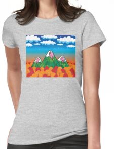Sleeping giants Womens Fitted T-Shirt