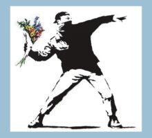 Flower Thrower - Banksy Kids Tee