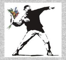 Flower Thrower - Banksy One Piece - Short Sleeve