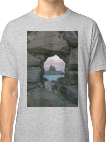 Lindisfarne Castle Through The Wall. Classic T-Shirt