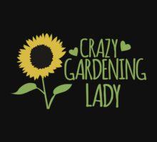 Crazy Gardening Lady Kids Tee