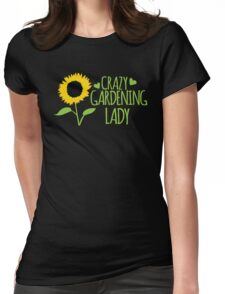 Crazy Gardening Lady Womens Fitted T-Shirt