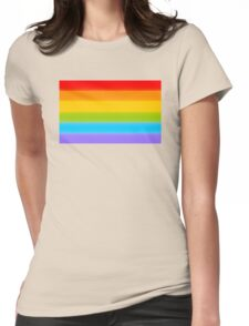 LGBT Rainbow Flag Womens Fitted T-Shirt