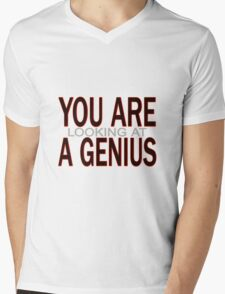 You Are Looking At A Genius Mens V-Neck T-Shirt
