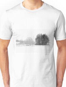 Black White Winter cold day Unisex T-Shirt