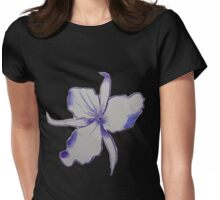 Purple Orchid Flower watercolor Womens Fitted T-Shirt