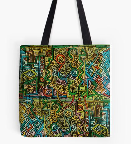 Psychedelic Time Tote Bag