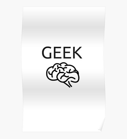 BRAINY GEEK Poster