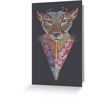 Cheetah Totem Greeting Card