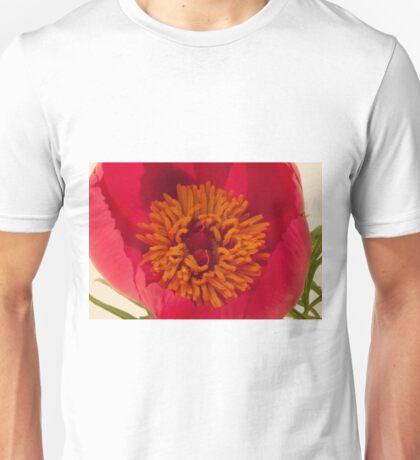 Pink Peony Stamen Macro Unisex T-Shirt