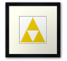 Yellow Triangle Framed Print