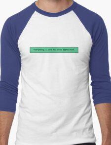 Deprecated Love Men's Baseball ¾ T-Shirt