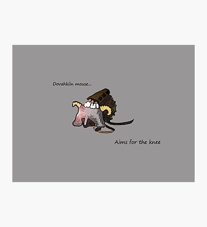 Dovahkiin Mouse Photographic Print
