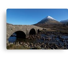 Glamaig and the Sligachan Bridge Canvas Print