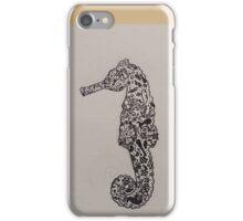 sea horse tattoo'd iPhone Case/Skin