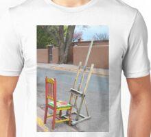 Canyon Road Artist Chair, Santa Fe Unisex T-Shirt