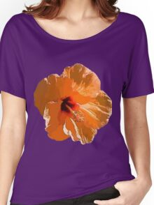 Orange flower - Hibiscus Women's Relaxed Fit T-Shirt
