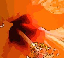 Orange flower - Hibiscus Sticker