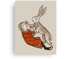 Raped by a Rabbit  Canvas Print