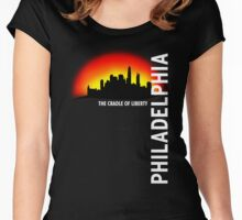 Love The City Philadelphia Women's Fitted Scoop T-Shirt