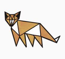 geometric fox Kids Tee