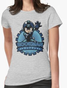 The Blue Bomber Womens Fitted T-Shirt