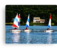 Striped Sails Canvas Print