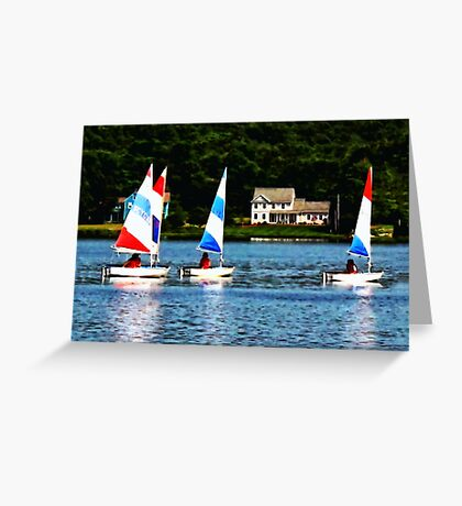 Striped Sails Greeting Card